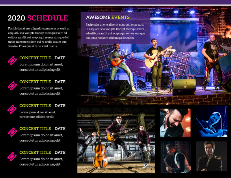 Music Concert Brochure Template Preview 3