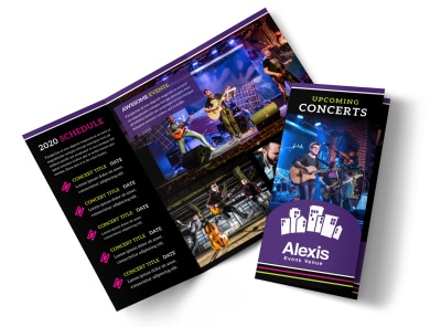 Music Concert Tri-Fold Brochure Template preview