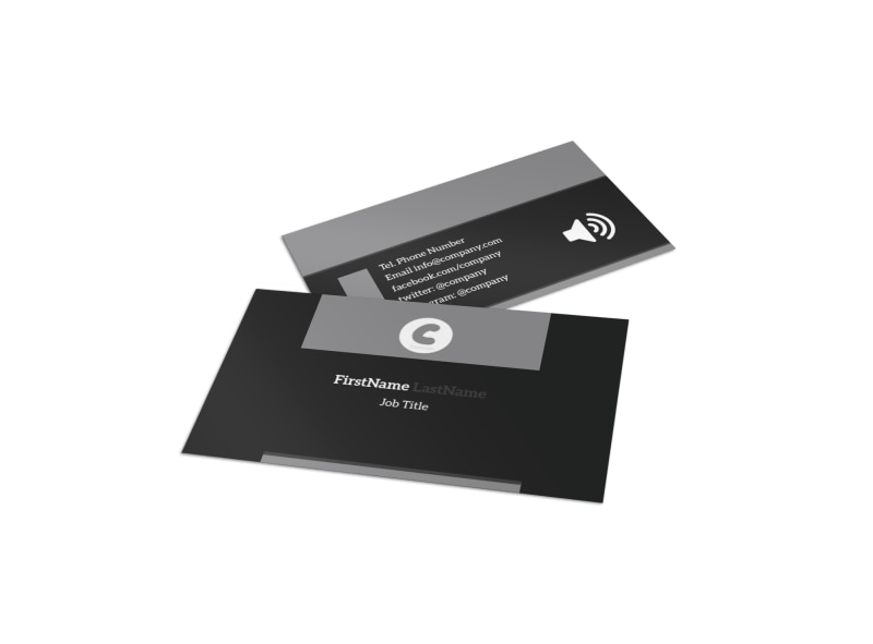 Handyman Services Business Card Template