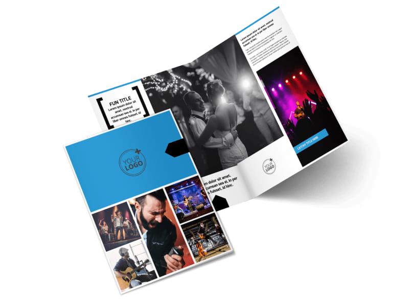 Live Music Band Bi-Fold Brochure Template 2
