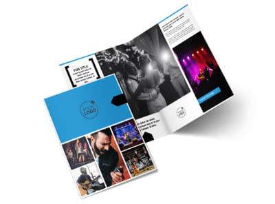 Live Music Band Bi-Fold Brochure Template 2