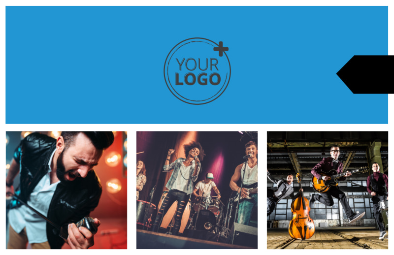Live Music Band Postcard Template Preview 2