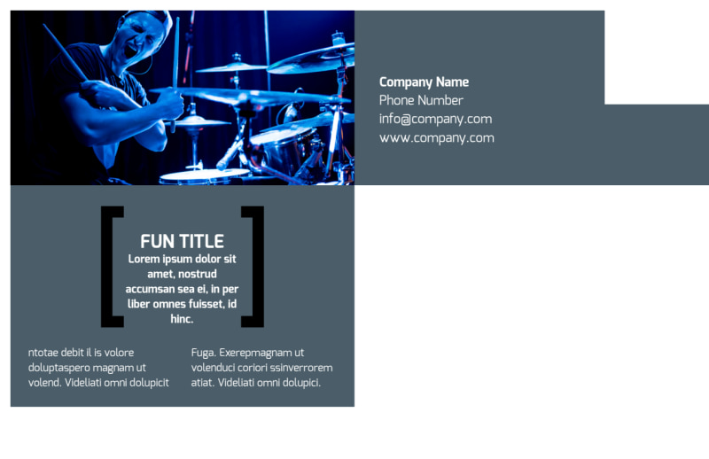 Live Music Band Postcard Template Preview 3