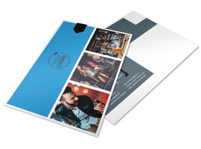 Live Music Band Postcard Template Preview 1