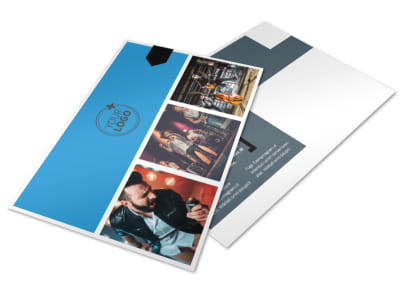 Live Music Band Postcard Template