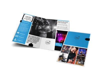 Live Music Band Bi-Fold Brochure Template