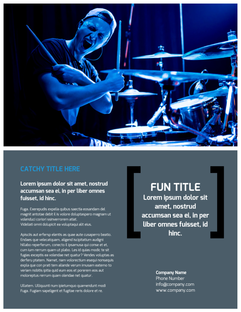 Live Music Band Flyer Template Preview 3