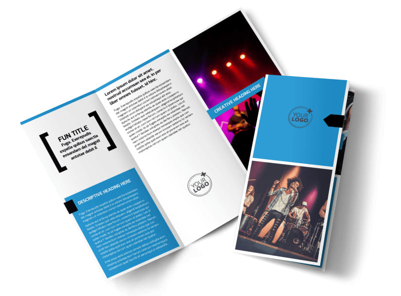 Live Music Band Tri-Fold Brochure Template