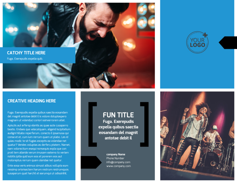 Live Music Band Brochure Template Preview 2