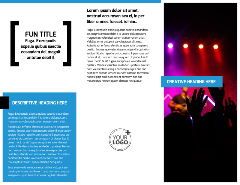 Live Music Band Brochure Template Preview 3
