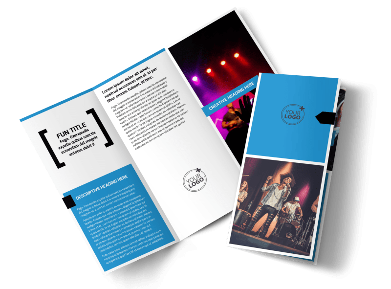 Live Music Band Brochure Template Preview 1