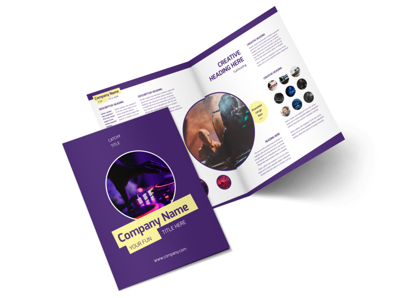 Live DJ Bi-Fold Brochure Template 2