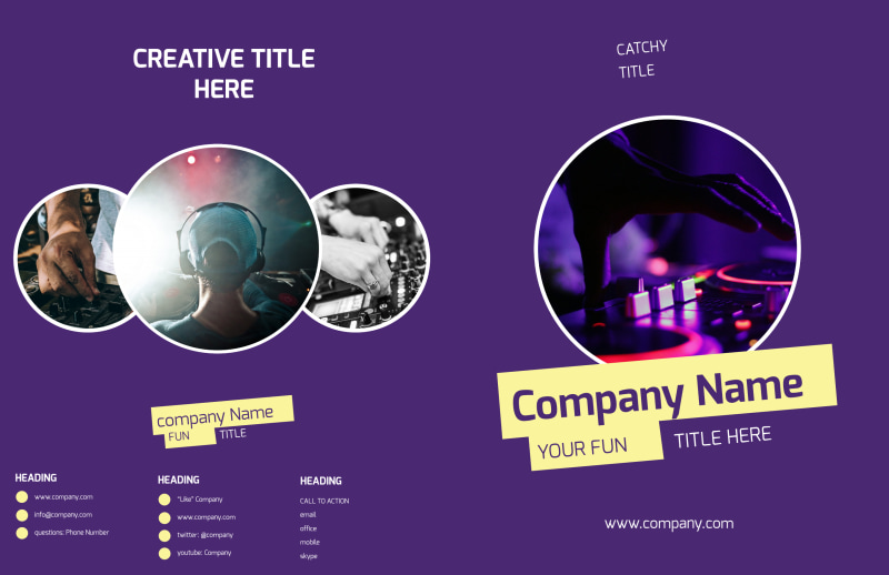 Live DJ Brochure Template Preview 2
