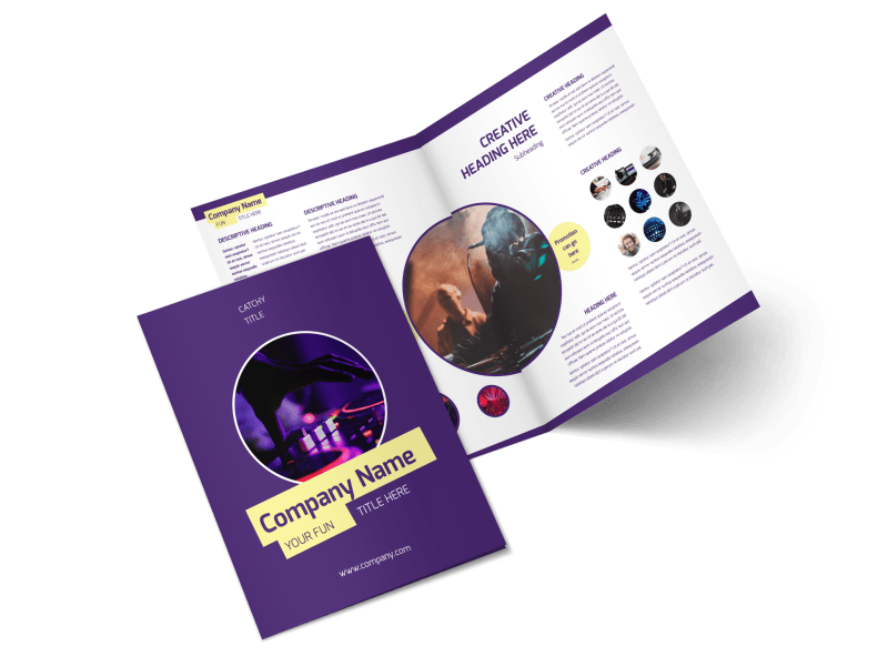 Live DJ Brochure Template Preview 1