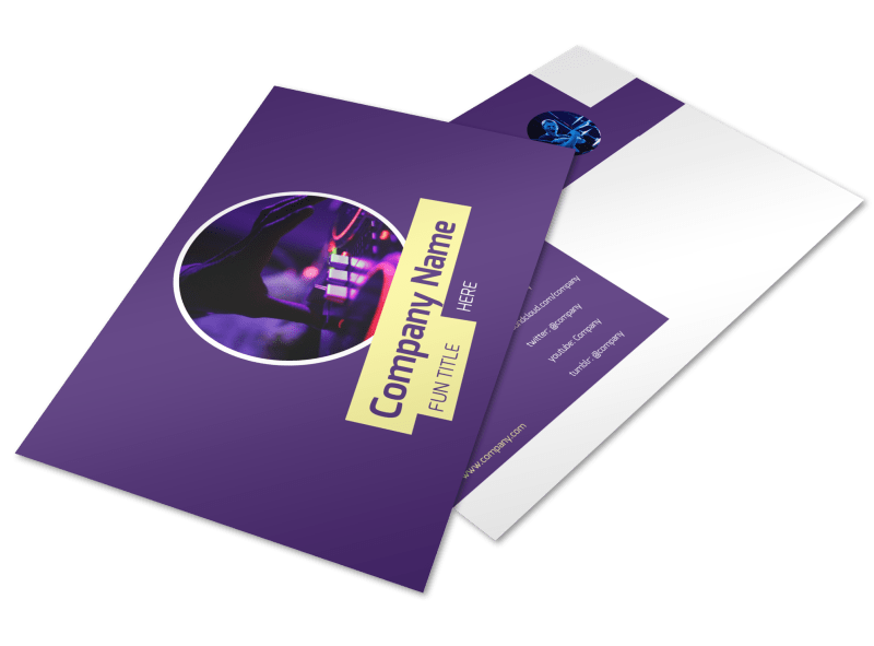 Live DJ Postcard Template Preview 1
