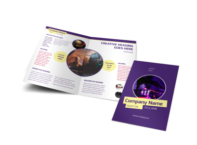 Live DJ Bi-Fold Brochure Template preview
