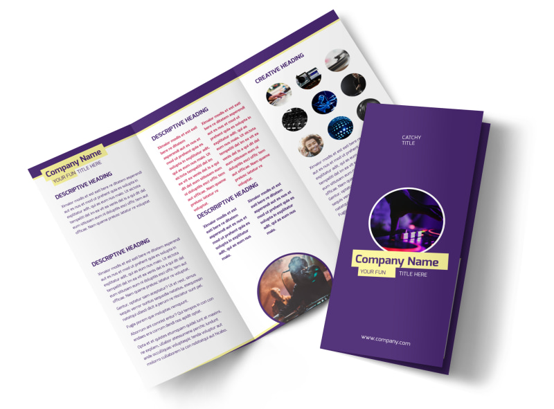 Live DJ Tri-Fold Brochure Template