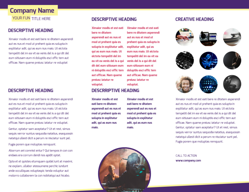 Live DJ Brochure Template Preview 3