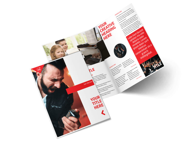 Music Lessons Bi-Fold Brochure Template 2