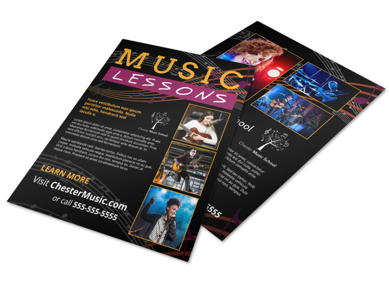Music Lessons Flyer Template Preview 4