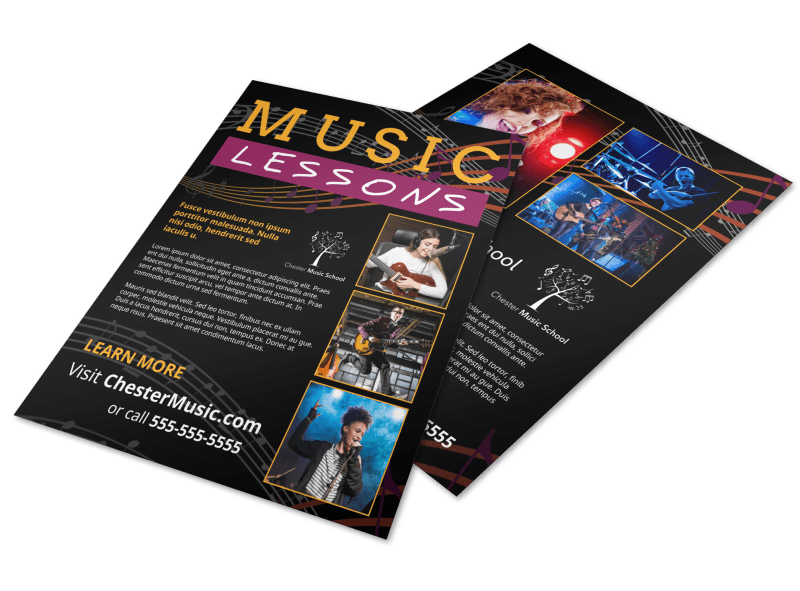 Music Lessons Flyer Template Preview 1