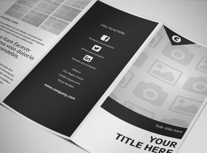 free blank tri fold template