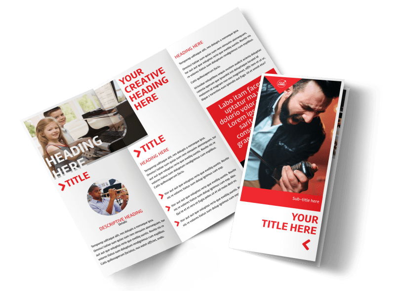 Music Lessons Brochure Template Preview 1