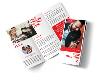 Music Lessons Tri-Fold Brochure Template