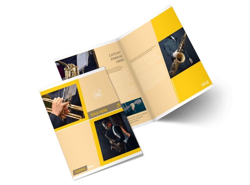 Jazz Band Bi-Fold Brochure Template 2