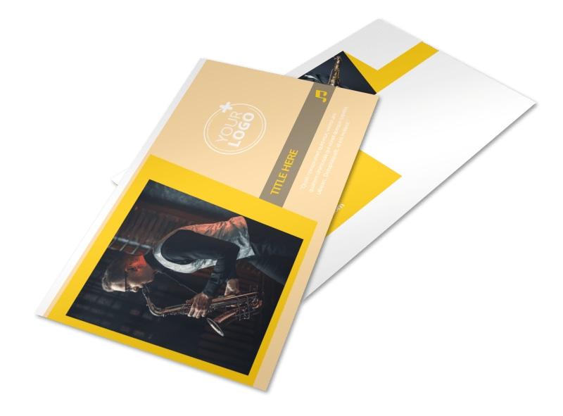 Jazz Band Postcard Template 2