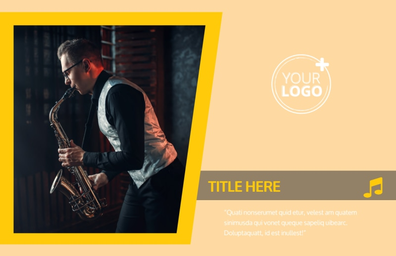 Jazz Band Postcard Template Preview 2