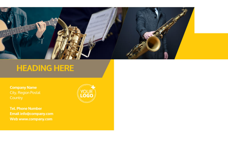 Jazz Band Postcard Template Preview 3