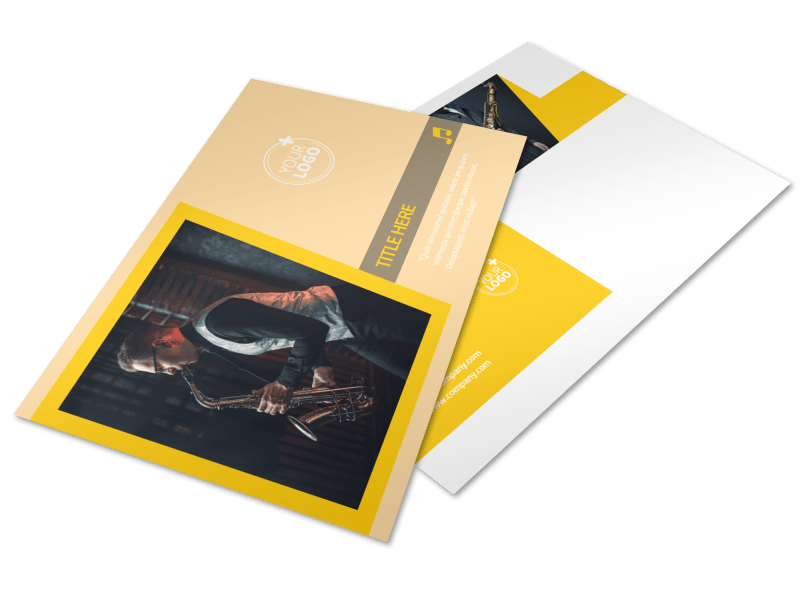Jazz Band Postcard Template Preview 1