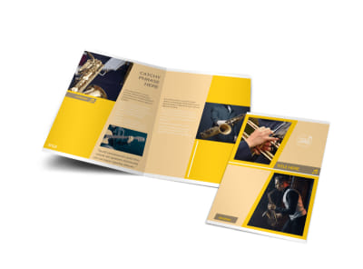 Jazz Band Bi-Fold Brochure Template
