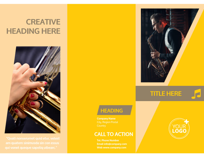 Jazz Band Brochure Template Preview 2