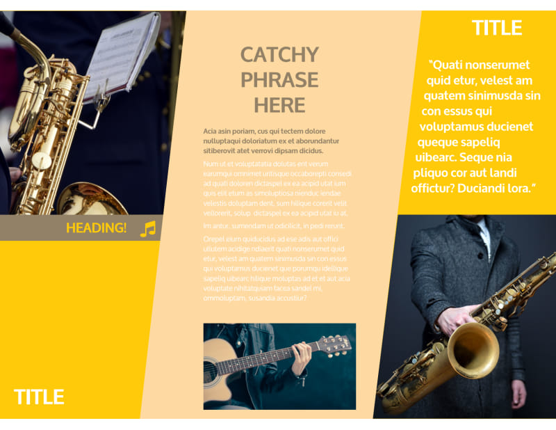 Jazz Band Brochure Template Preview 3