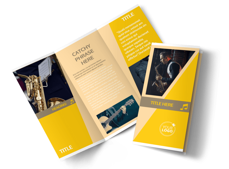 Jazz Band Brochure Template Preview 1