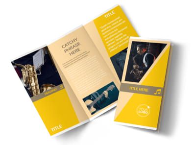 Jazz Band Tri-Fold Brochure Template