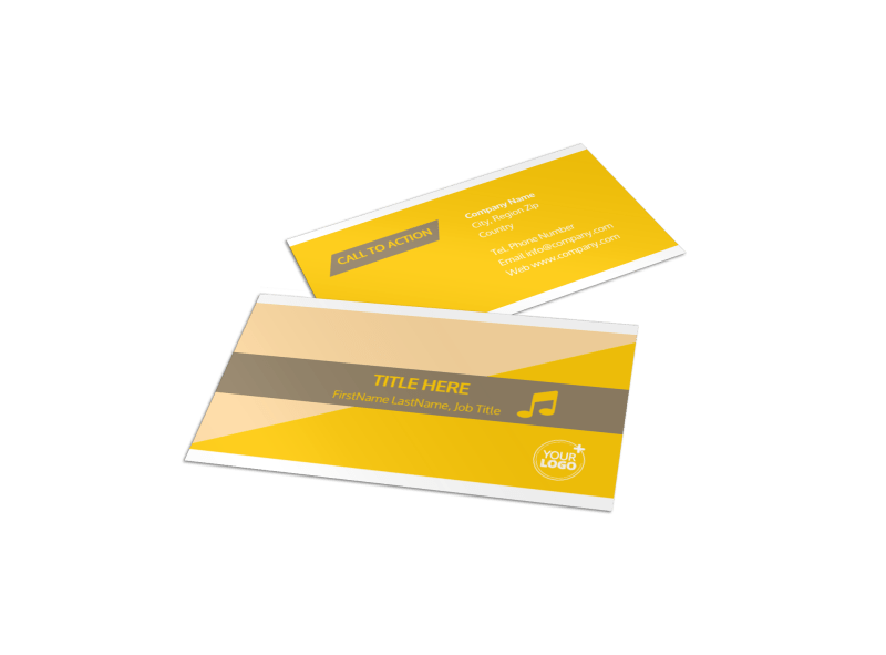 Jazz Band Business Card Template Preview 1