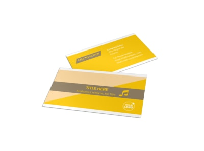 Jazz Band Business Card Template preview