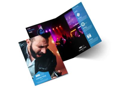 Live Music Concert Bi-Fold Brochure Template 2