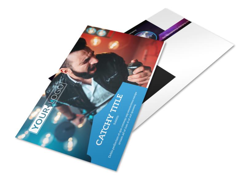 Live Music Concert Postcard Template 2