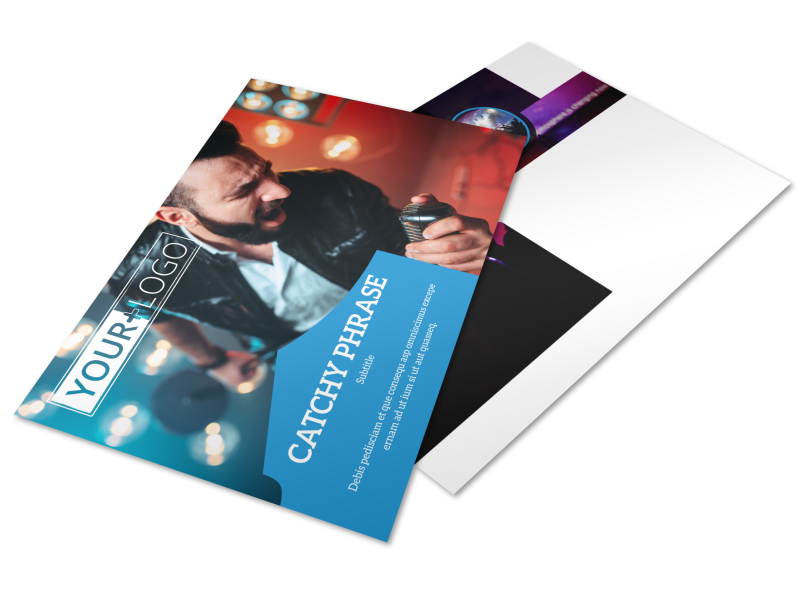 Live Music Concert Postcard Template Preview 1