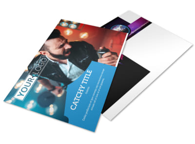 Live Music Concert Postcard Template preview