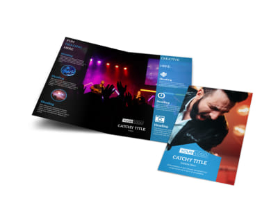 Live Music Concert Bi-Fold Brochure Template preview