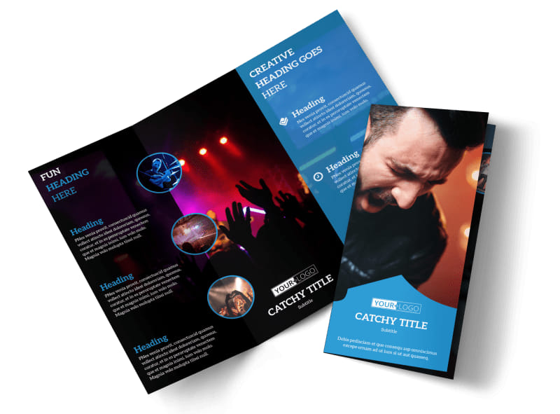 Live Music Concert Brochure Template – Music Brochure