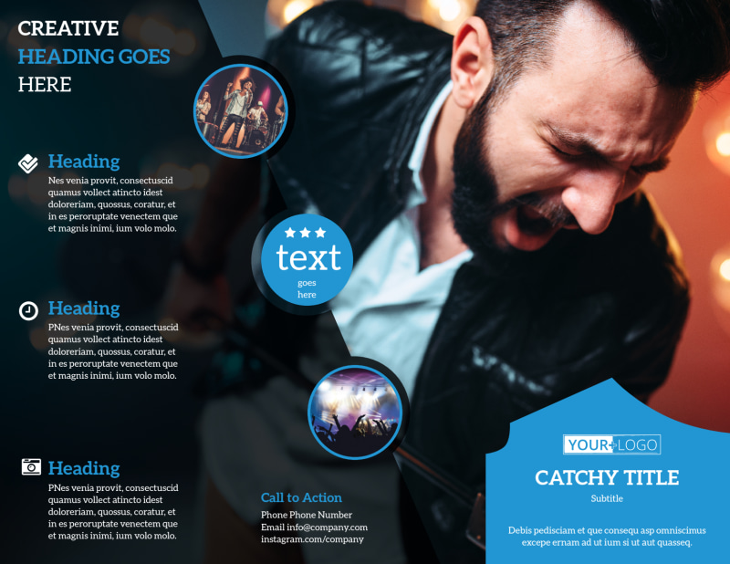 Live Music Concert Brochure Template Preview 2