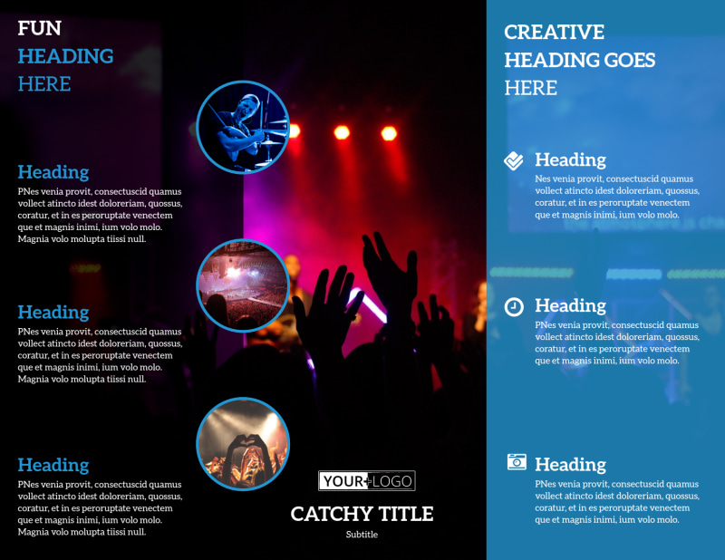 Live Music Concert Brochure Template Preview 3