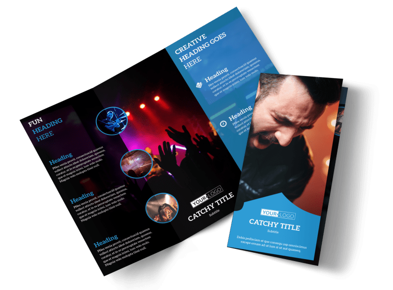 Live Music Concert Brochure Template Preview 1