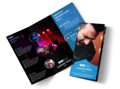 Live Music Concert Tri-Fold Brochure Template preview